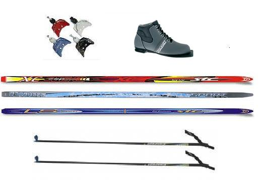 Лыжный комплект 75 мм 1 пластиковые